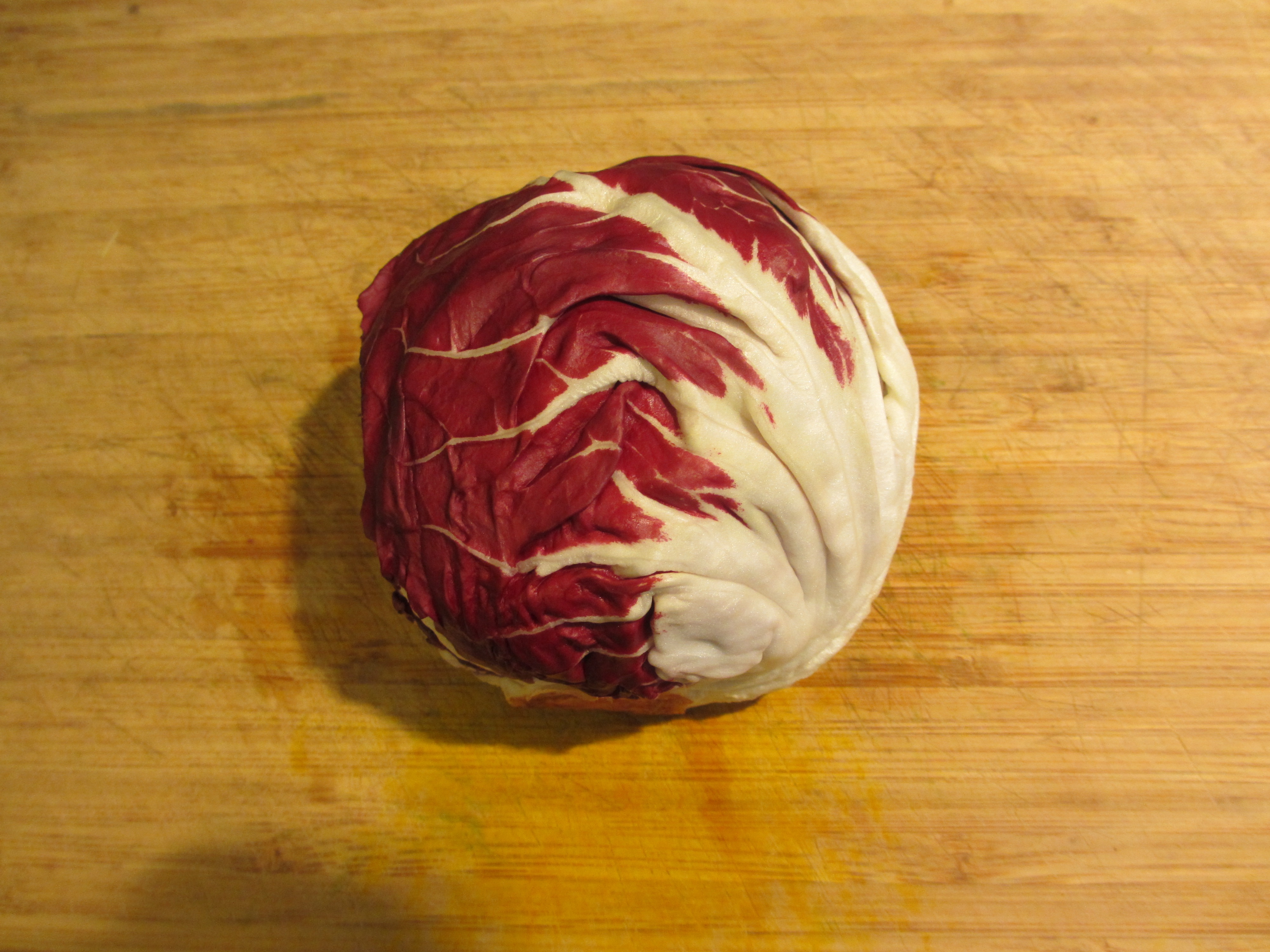 Radicchio is a strange vegetable. It's like a cabbage made a baby ...
